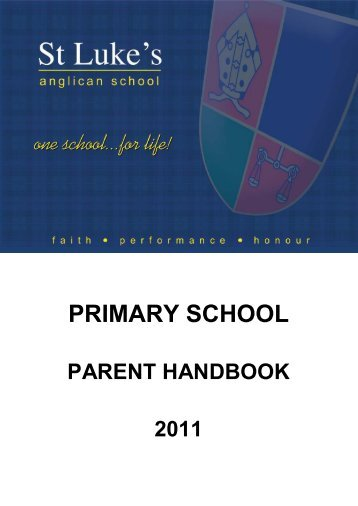 PRIMARY SCHOOL - St Luke's Anglican School