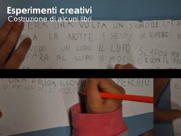 Esperimenti creativi Costruzione di alcuni libri