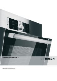 Bedienungsanleitung zu BOSCH HBG 73 B 455 Edelstahl - Innova