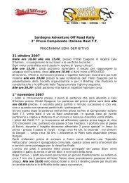 Sardegna Adventure Off Road Rally 2° Prova ... - Motowinners