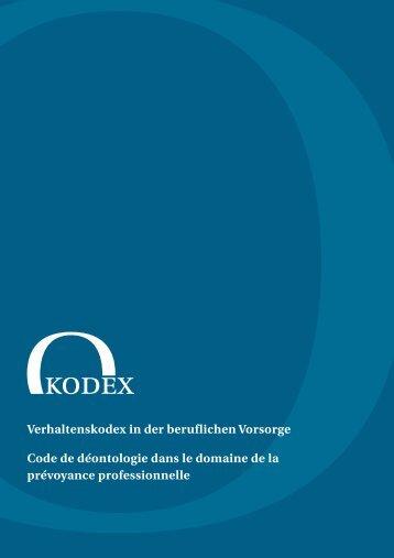 Verhaltenskodex in der beruflichen Vorsorge Code de déontologie ...