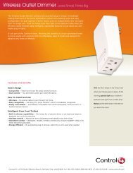 Control4 Wireless Outlet Dimmer - Bobo Technologies