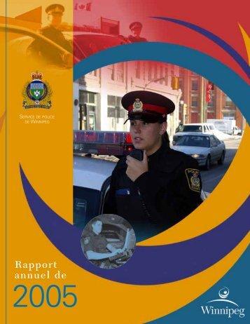 Service de Police de Winnipeg - Rapport annuel de 2005
