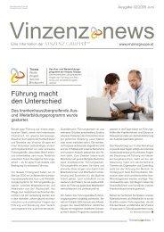 Vinzenz News: Ausgabe 2/05 - Vinzenz Gruppe