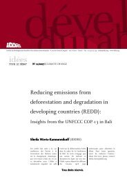 Reducing emissions from deforestation and degradation in ...