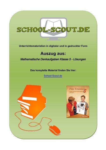 Mathematische Denkaufgaben Klasse 5 - Lösungen - School-Scout