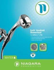 Earth® Handheld Showerhead - Niagara Conservation