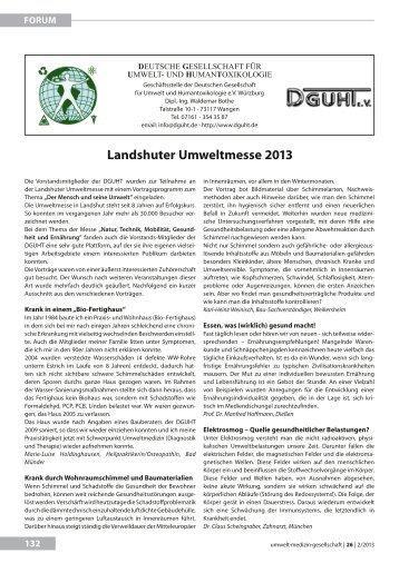 landshuter umweltmesse 2013 - UMG-Verlag