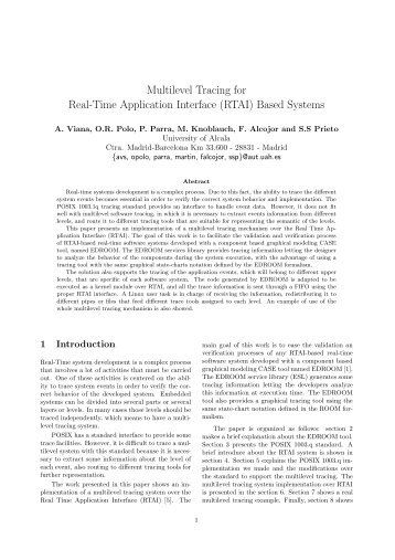 Multilevel Tracing for Real-Time Application Interface ... - OSADL