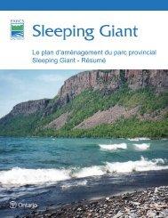 Le plan d'aménagement du parc provincial Sleeping ... - Ontario Parks
