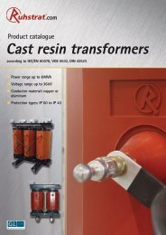 Product Catalogue Cast Resin Transformers - Ruhstrat GmbH