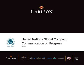 United Nations Global Compact: Communication on ... - Carlson