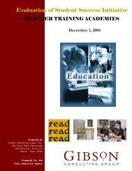 teacher training academies - TEA - Home School Information ...