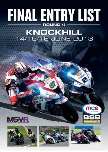 KNOCKHILL - MotorSport Vision Racing