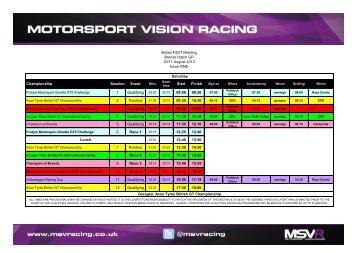 British F3GT Meeting Brands Hatch GP 10/11 August 2013 Issue ...