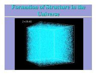 Formation of Structure in the Universe - jura