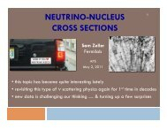 NEUTRINO-NUCLEUS CROSS SECTIONS - BooNE - Fermilab