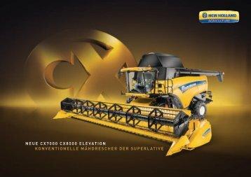 neue cx7000 cx8000 elevation konventionelle ... - New Holland