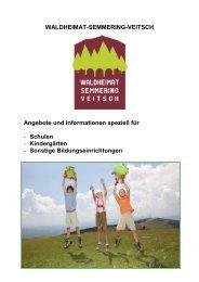 Schulen - Waldheimat Semmering Veitsch
