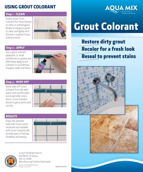 Grout Colorant Product Data - Centura