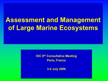 Assessment and Management of Large Marine Ecosystems