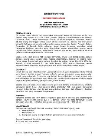 SIROSIS HEPATITIS - USU Library - Universitas Sumatera Utara