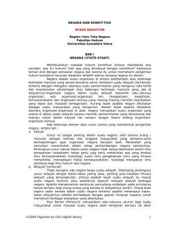 HUKUM KONSTITUSI - USU Library - Universitas Sumatera Utara