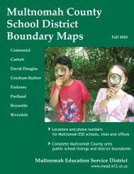 Multnomah County School District Boundary Maps