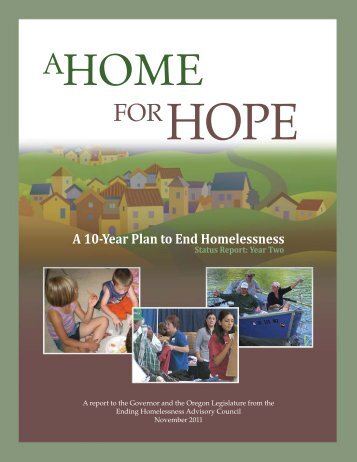 A 10-Year Plan to End Homelessness - Year 2 ... - State of Oregon
