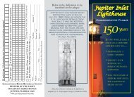 Commemorative Plaque Form - Jupiter Inlet Lighthouse and Museum