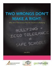 two wrongs don't make a right - National School Climate Center
