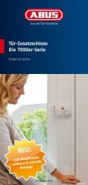 Tür-Zusatzschloss Die 7000er-Serie - Abus