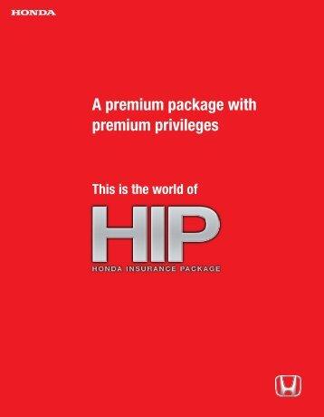 Honda Insurance Package. - Honda Malaysia
