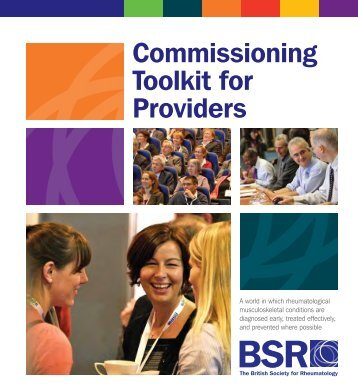 commissioning toolkit sample. - The British Society for Rheumatology