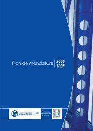 Plan de mandature 2005-2009 - (CCI) de Quimper Cornouaille