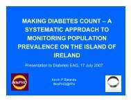 Diabetes EAG July 2007 - Institute of Public Health in Ireland