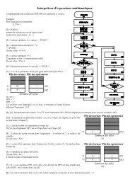 Interpréteur mathématique - Pages de Michel Deloizy