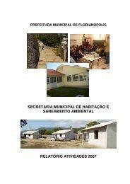 secretaria municipal de habitação e saneamento ambiental relatório ...