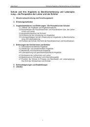 Schule und ihre Angebote zu Berufsorientierung und Lebenspla ...