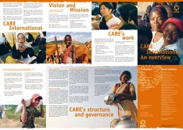 CARE International An overview CARE's structure and ... - GiveWell