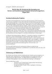 Aufbau eines Service- und Koordinierungsstützpunktes - Deutsche ...