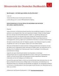 Spartenpapier - Verband der Verlage und Buchhandlungen Berlin ...
