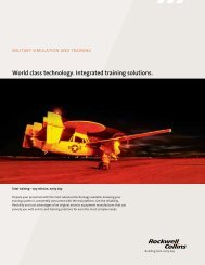 Military Simulation and Training - Rockwell Collins
