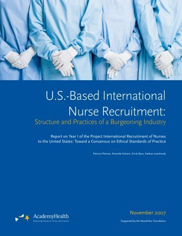 US-Based International Nurse Recruitment: Structure and Practices