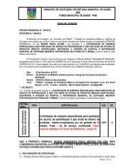 Contratação de empresa especializada para prestação de serviço ...
