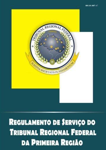 Regulamento de Serviço do TRF 1ª Região - Justiça Federal