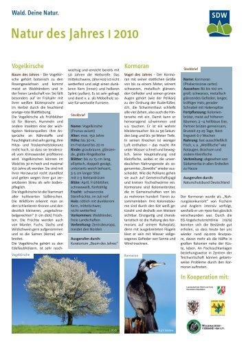 Natur des Jahres I 2010 - Schutzgemeinschaft Deutscher Wald