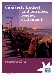 quarterly budget and business review statement - Warringah Council