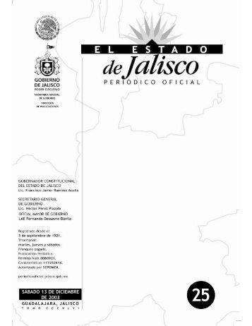 SÁBADO 13 DE DICIEMBRE DE 2003 - Periódico Oficial El Estado ...