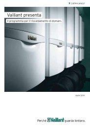Listino prezzi aprile 2013 - PDF - Vaillant